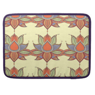 Ethnic flower lotus mandala ornament sleeve for MacBook pro