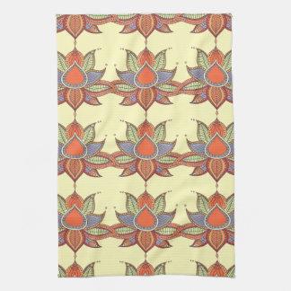 Ethnic flower lotus mandala ornament tea towel