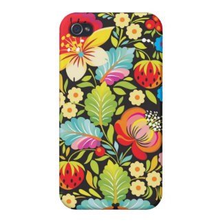 Ethnic Flowers Decorative Art iPhone 4/4S Cases