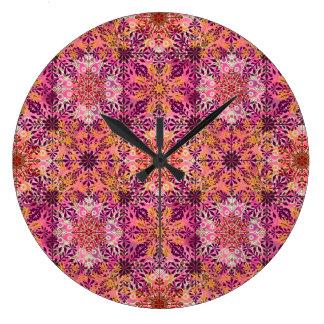 Ethnic Geo Printed Clock