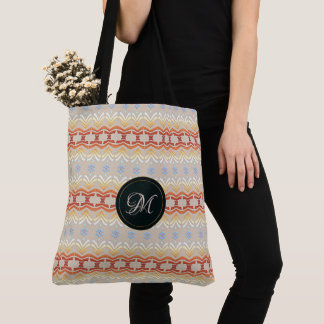 Ethnic geometric pattern. Monogram. Tote Bag