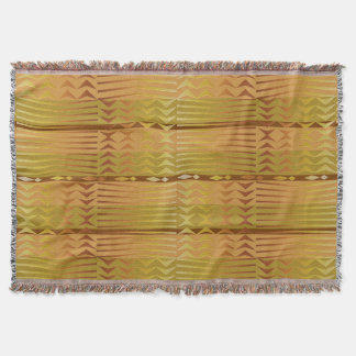 Ethnic golden african geometric pattern. throw blanket