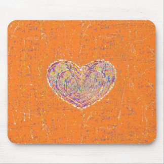 Ethnic Heart Mouse Pad