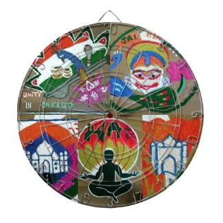 Ethnic Indian design Dartboard