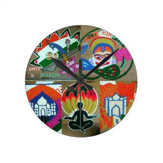Ethnic Indian design Round Clock