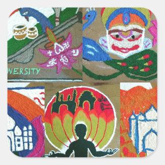 Ethnic Indian design Square Sticker