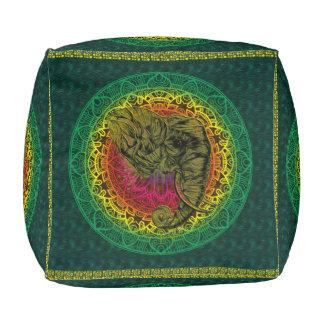 Ethnic Indian Style - Mandala - Tribal Elephant Pouf