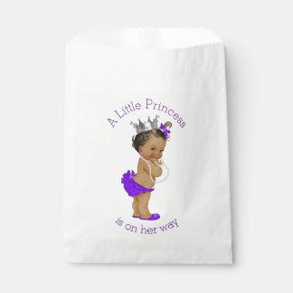 Ethnic Little Princess Baby Shower Purple Favour Bag