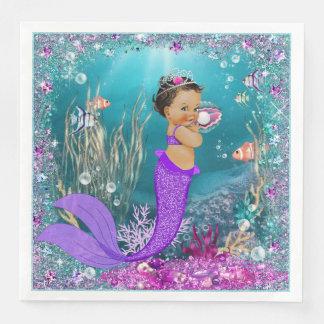 Ethnic Mermaid Baby Shower Napkins Disposable Napkins