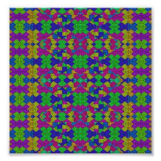 Ethnic Modern Geometric Patterned Photo Print