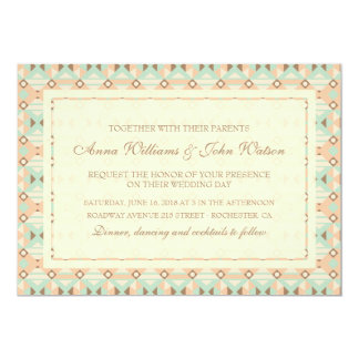 Ethnic Moroccan Motifs Seamless Pattern 18 13 Cm X 18 Cm Invitation Card
