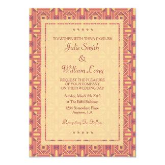 Ethnic Moroccan Motifs Seamless Pattern 7 13 Cm X 18 Cm Invitation Card