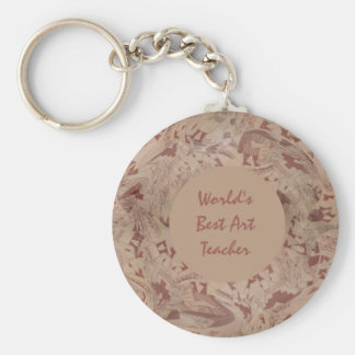 Ethnic Museum Vase Abstracted Basic Round Button Key Ring