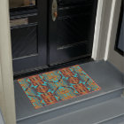 Ethnic Native American Indian Tribal Pattern Art Doormat