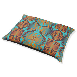 Ethnic Native American Indian Tribal Pattern Art Pet Bed
