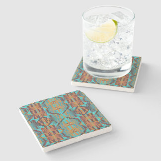 Ethnic Native American Indian Tribal Pattern Stone Coaster