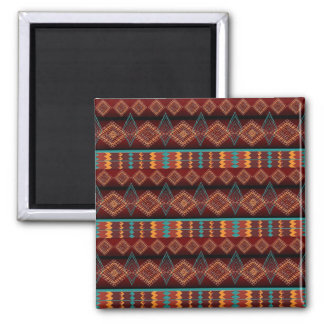 ethnic navajo seamless pattern square magnet