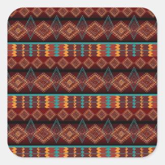 ethnic navajo seamless pattern square sticker