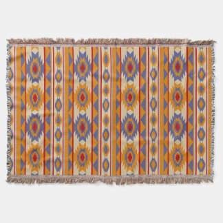 ethnic navajo seamless pattern throw blanket