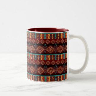 ethnic navajo seamless pattern Two-Tone coffee mug