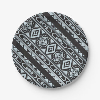 Ethnic pattern american traditional ornament 7 inch paper plate