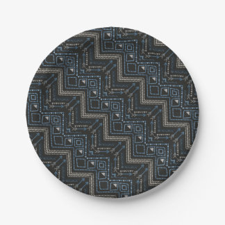 Ethnic pattern with american ornament 7 inch paper plate