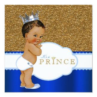 Ethnic Prince Baby Shower 13 Cm X 13 Cm Square Invitation Card