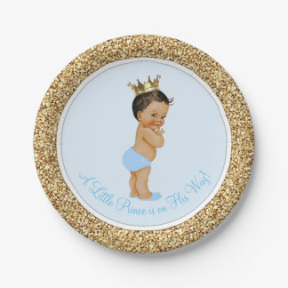 Ethnic Prince Baby Shower Paper Plate