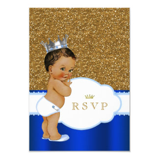 Ethnic Prince Baby Shower RSVP Card