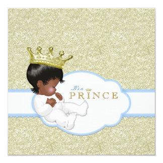 Ethnic Prince Boy Baby Shower 13 Cm X 13 Cm Square Invitation Card