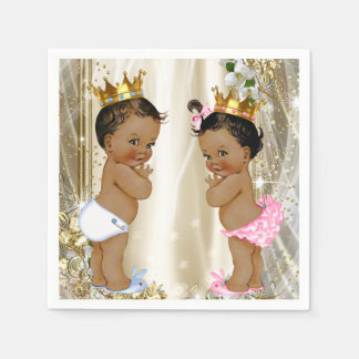 Ethnic Prince Princess Baby Shower Disposable Napkin