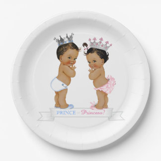 Ethnic Prince Princess Baby Shower Paper Plate