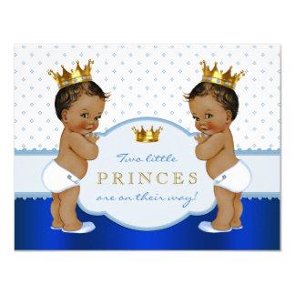 Ethnic Prince Twin Baby Shower 11 Cm X 14 Cm Invitation Card