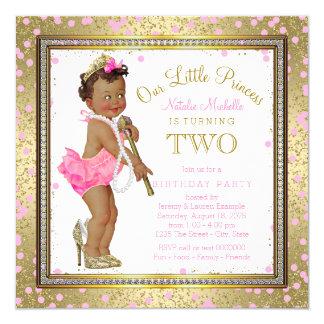 Ethnic Princess 2nd Birthday Party 13 Cm X 13 Cm Square Invitation Card