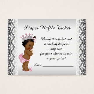 Ethnic Princess Baby Girl Diaper Raffle Ticket