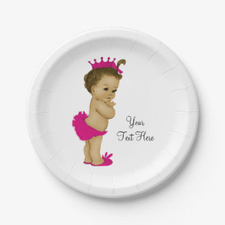 Ethnic Princess Baby Shower 7 Inch Paper Plate