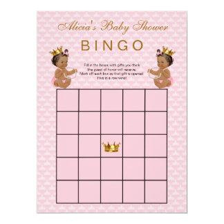 Ethnic Princess Baby Shower Bingo Card