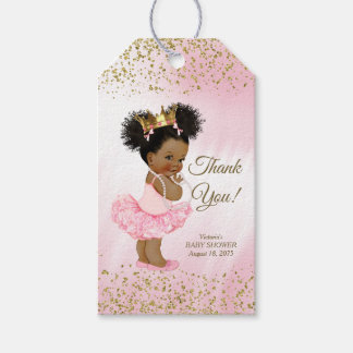 Ethnic Princess Baby Shower Gift Tags