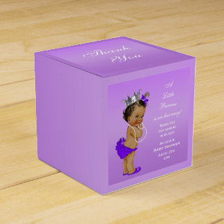 Ethnic Princess Baby Shower Lavender Favour Box