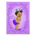 Ethnic Princess Baby Shower Ornate Purple Frame 13 Cm X 18 Cm Invitation Card