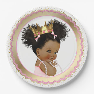 Ethnic Princess Baby Shower Paper Plate