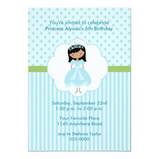 "Ethnic Princess Birthday Party Invitation 5"" X 7"" Invitation Card"