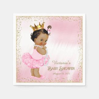 Ethnic Princess Girl Baby Shower Paper Napkins