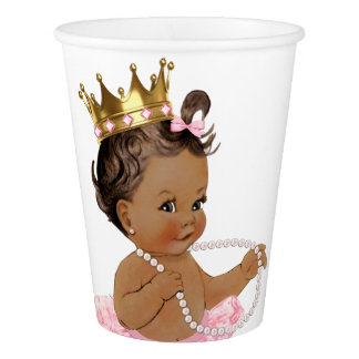 Ethnic Princess Pearl Tutu Pink Gold Baby Shower