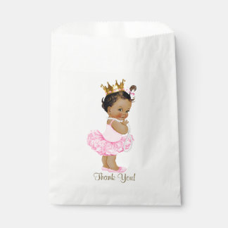 Ethnic Princess Tutu Ballerina Pearls Baby Shower Favour Bag