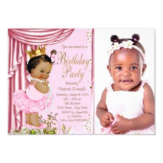 Ethnic Princess Tutu Pearl Birthday Party 11 Cm X 16 Cm Invitation Card