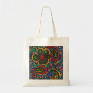 Ethnic Print Budget Tote Bag