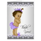 Ethnic Purple Princess Baby Shower Thank You Card