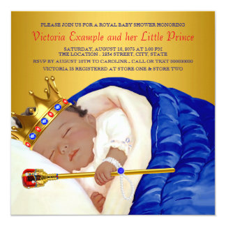 Ethnic Royal Prince Baby Shower 13 Cm X 13 Cm Square Invitation Card