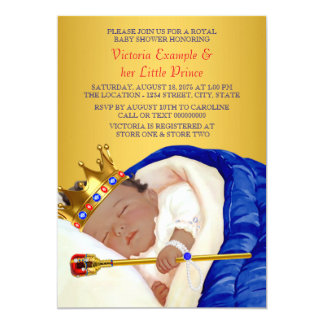 Ethnic Royal Prince Baby Shower Card